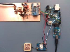 Arduino WSPR test opstelling